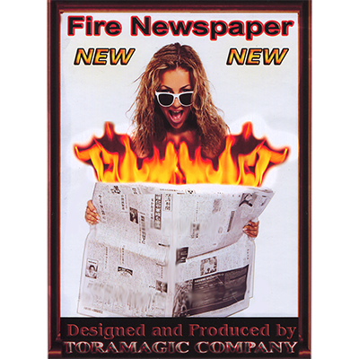Fire Newspaper by Tora Magic