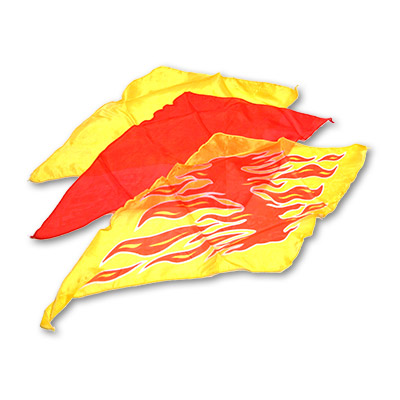 Diamond Cut Flame Silk Set by Goshman - Trick