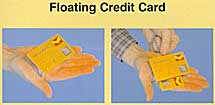 Floating Credit Card Joker Magic