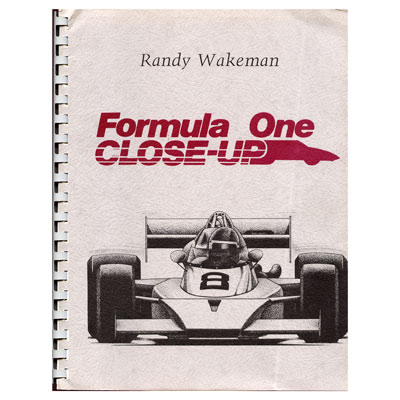 Formula One book - Randy Wakeman