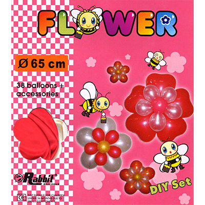 Four Balloon Flower Kit DIY SET (38 balloons 65cm) by Will Roya - Trick