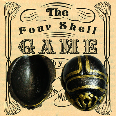 Four Dung Beetle Scarab Shells (Black) - Trick
