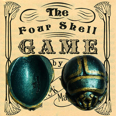 Four Dung Beetle Scarab Shells (Green) - Trick