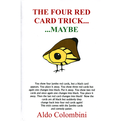 Four Red Card Trick by Wild-Colombini Magic - Trick