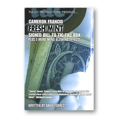 Fresh Mint by Cameron Francis - Book