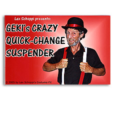 Geki's Crazy Quick-Change Suspenders by Lex Schoppi - Trick