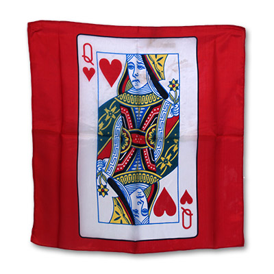 "Silk 18"" Queen of Heart Card from Magic by Gosh - Trick"