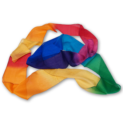 "4"" - 9 Multicolor Silk Streamer - Magic - Gosh"