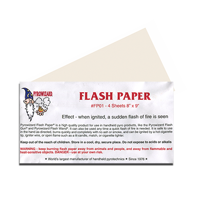 Theatre Effects Pyrowizard Flash Paper Sheets - 8