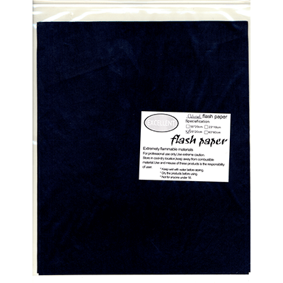 Flash Paper five pack (25 cm x 20 cm) Black