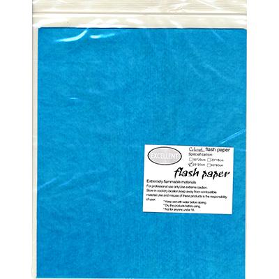 Flash Paper five pack (25 cm x 20 cm) Blue