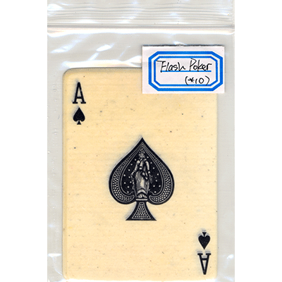 Flash Poker Card Ace of Spades (Ten Pack)
