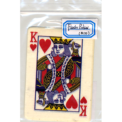 Flash Poker Card King of Hearts (Ten Pack) - Trick