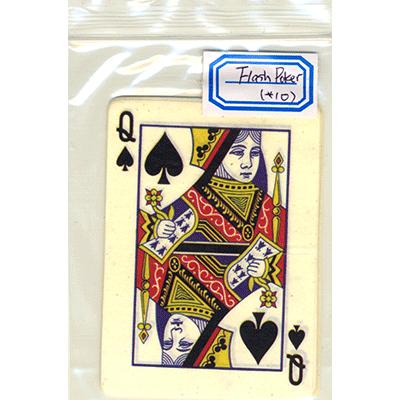 Pyro Spielkarte Pik Dame (10 Stk.), Flash Poker Card Queen of Spades (Ten Pack) - Zaubertrick