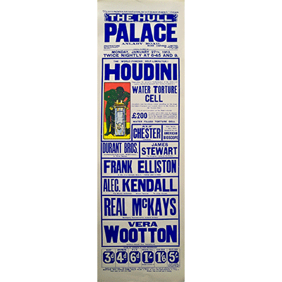 Houdini Poster (British / Rare) - Trick