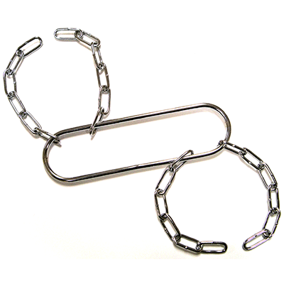 Houdini Handcuffs (Chrome) by Vincenzo Di Fatta
