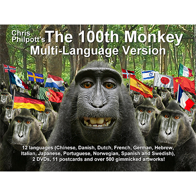 100th Monkey Multi-Language (2 DVD Set with Gimmicks) by Chris Philpott in DEUTSCH - Zaubertrick