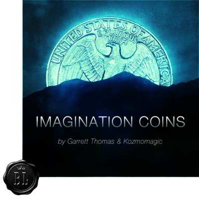 Imagination Coins US Quarter (DVD and Gimmicks) by Garrett Thomas and Kozmomagic