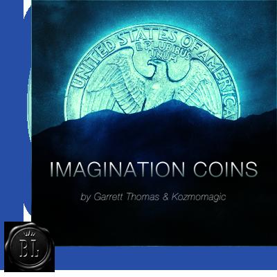 Imagination Coins Euro (DVD and Gimmicks) by Garrett Thomas and Kozmomagic