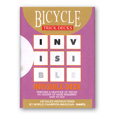 Invisible Deck Bicycle Mandolin (Red)