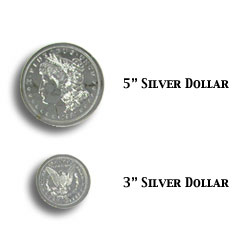 Jumbo 3 inch Morgan Chrome Dollar - Trick