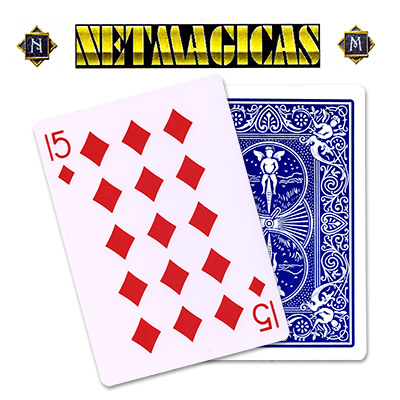 Jumbo (BLUE) 15 of Diamonds by Netmagicas - Trick