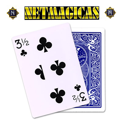 Jumbo (BLUE) 3-1/2 of Clubs by Netmagicas - Trick