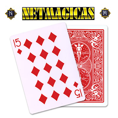 Jumbo (RED) 15 of Diamonds by Netmagicas - Trick