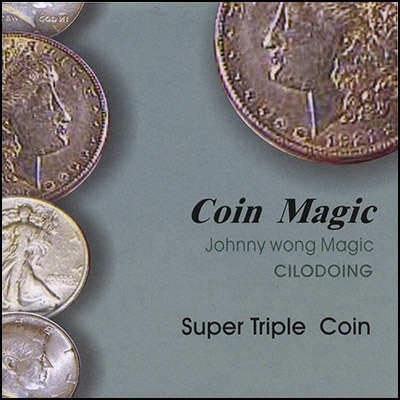Super Triple Coin (with DVD) by Johnny Wong - Trick