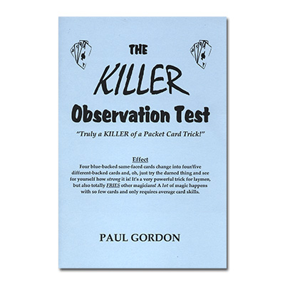 The Killer Observation Test by Paul Gordon - Trick