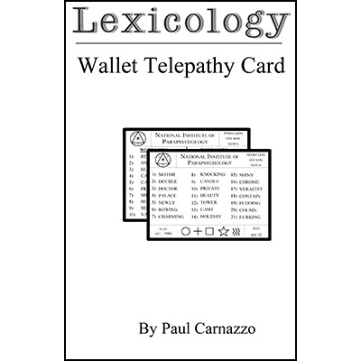 Lexicology by Paul Carnazzo - Trick