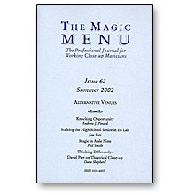 Magic Menu Issue 63 - Book