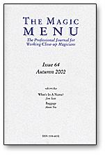 Magic Menu Issue 64 - Libro de Magia