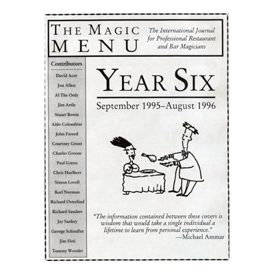 Year 6 : Magic Menu - Book