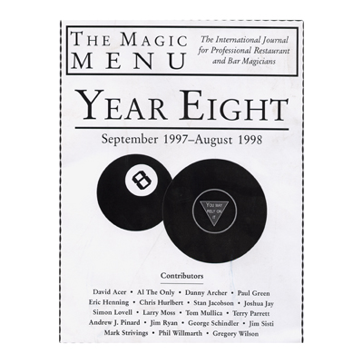 Year 8 : The Magic Menu - Libro de Magia