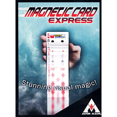 Magnetic Card Express (Red) by Astor Magic - Trick