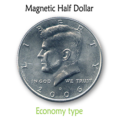 Magnetic US Half Dollar (ECONOMY) by Kreis Magic - Trick