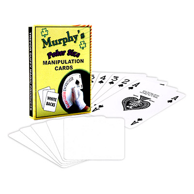 Manipulation Cards-POKER SIZE|WHITE BACK (For Glove Workers)