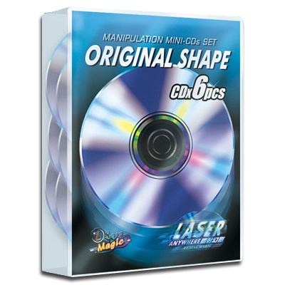 Manipulation Mini CDs (Original Shape, NON Colored) by Live Magic - Trick