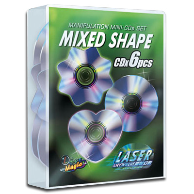 Manipulation Mini CDs (Mixed Shape) by Live Magic - Trick