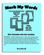 Mark My Words by Ken Driscoll - Book
