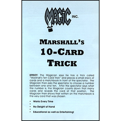 Marshall's Ten Card Trick - Trick