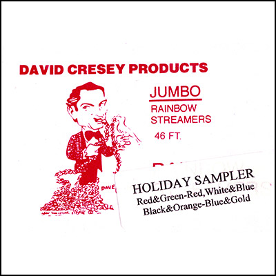 Mouth Coil 46 ft by David Cresey HOLIDAY SAMPLER (rd/grn, rwb, blue/gold, halloween) - Trick