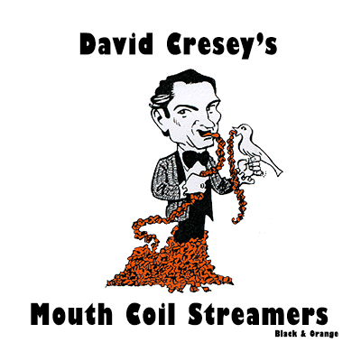 Mouth Coil 46 ft (black/orange) by David Cresey - Trick