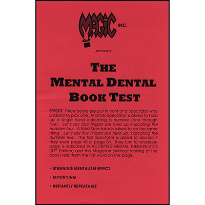 Mental Dental Book Test - Trick