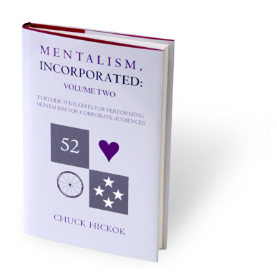 Mentalism Incorporated Volume 2 book, Chuck Hickok
