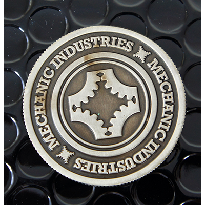 Full Dollar Coin (Gun Metal Grey) by Mechanic Industries - Trick