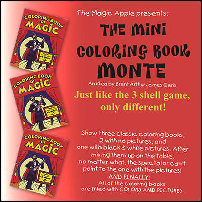 Mini Coloring Book Monte by  Magic Apple - Trick