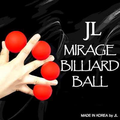 2 Inch Mirage Billiard Balls by JL (RED, 3 Balls and Shell) - Trick