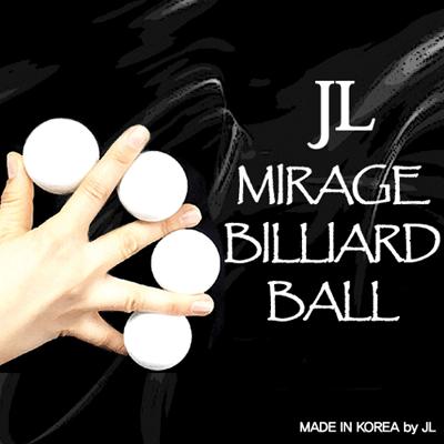 Two Inch Mirage Billiard Balls WHITE, 3 Balls and Shell